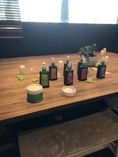 Les huiles proposées pour l'atelier