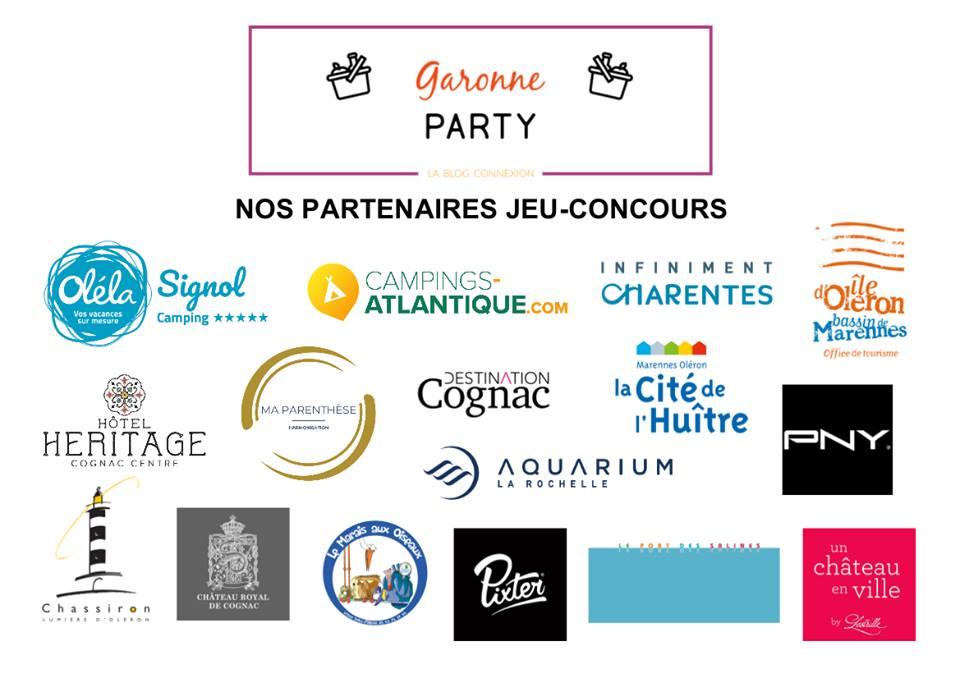 Les partenaires du jeu concours de la soirée Garonne Party