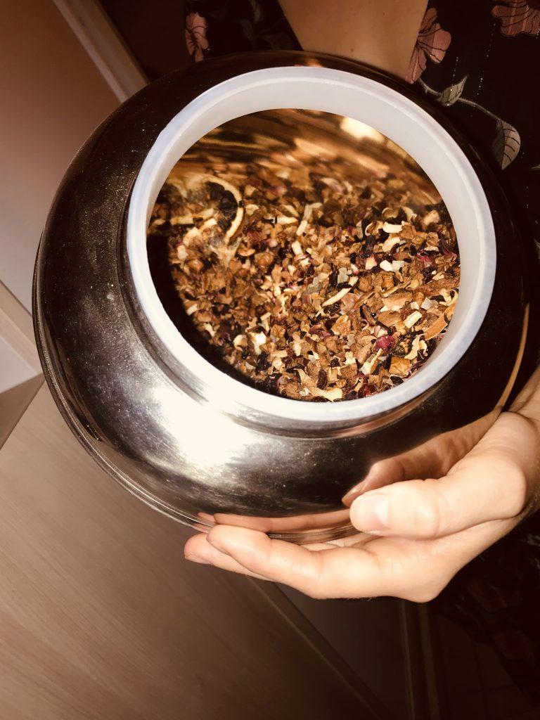 Proposition de thé de la part de Virginie qui prends le temps de nous faire découvrir le thé.