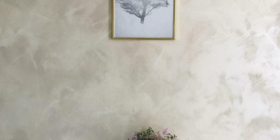 Affiche arbre Bimago avec cadre doré.
